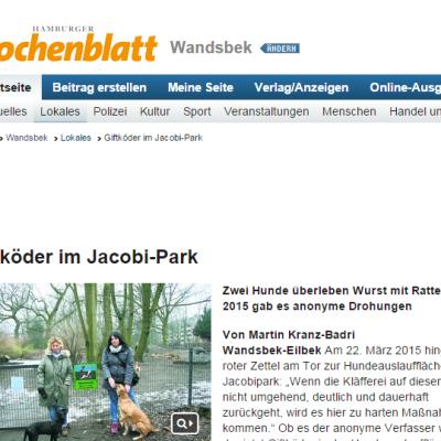 Hamburger Wochenblatt: Selbstjustiz im Hundelärm-Streit (mkb.)